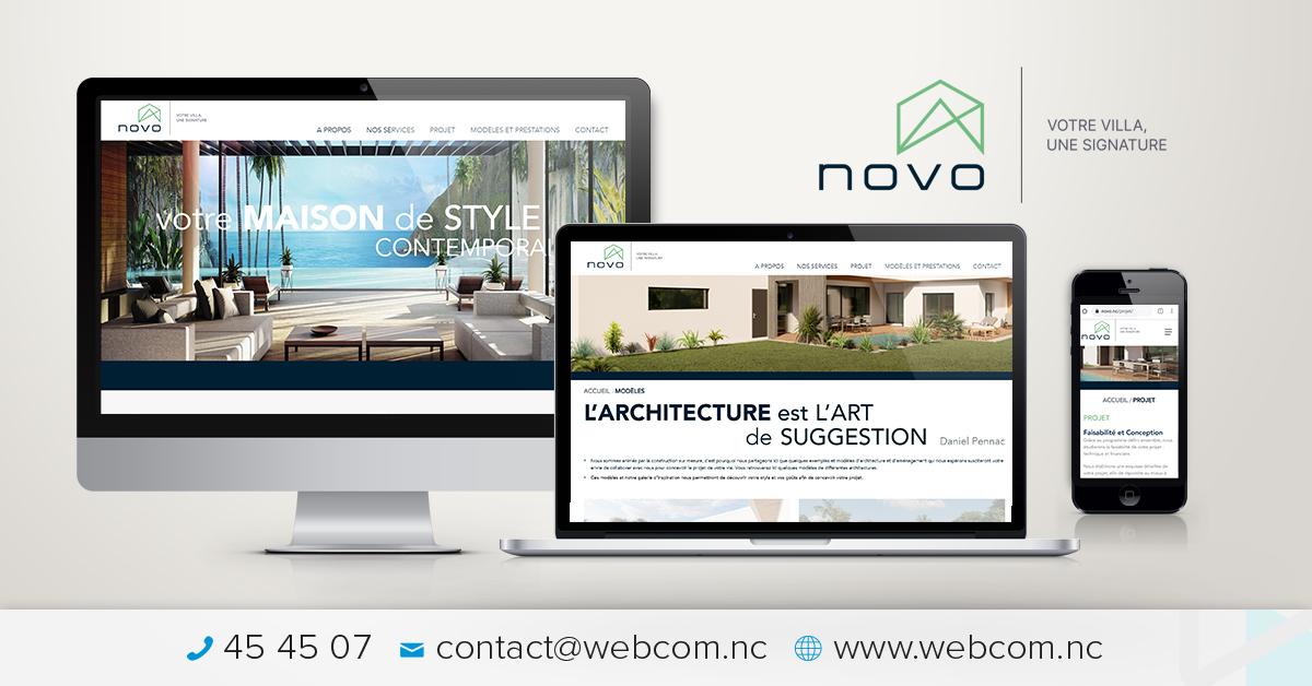 Création du site internet NOVO